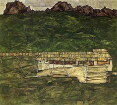 Sawmill, 1913 Egon Schiele