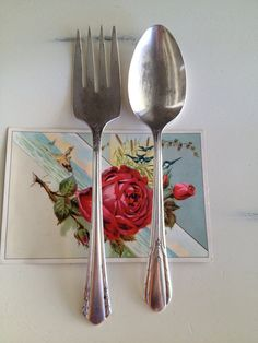 Vintage Serving Fork and Spoon Silverplate by TheLittleThingsVin, $10.00