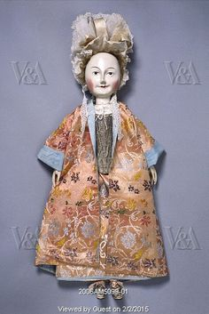 Image No. 2006AM5099-01  Lady Clapham doll. England, c.1690-1700.   © Victoria and Albert Museum, London