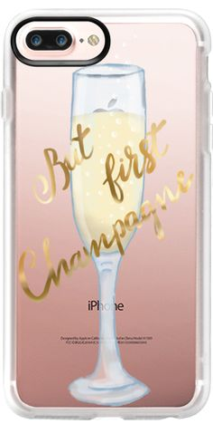 Casetify iPhone 7 Plus Case and iPhone 7 Cases. Other Drinks iPhone Covers - But First Champagne by Marta Olga Klara | Casetify