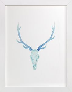 """Antlered "" - Available in a variety of frame and size options"