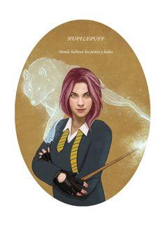 Tonks by Sara Meseguer Harry Potter Fan Art, Tonks Harry Potter, Harry James Potter, Harry Potter Anime, Harry Potter Universal, Harry Potter Characters, Harry Potter Hogwarts, Draco, Bellatrix