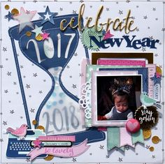 New year's layout idea #scrapbooking101