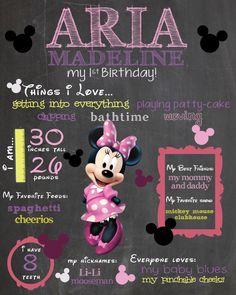 Minnie Mouse Chalkboard Sign / Printable / by SuziQPrintShop, $12.50