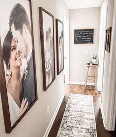 Wedding Picture Walls, Smallwood Home, Hallway Pictures, Photo Wall Decor, Hallway Wall Decor, Large Photos, Hallway Decorating, Home And Deco, Photo Displays