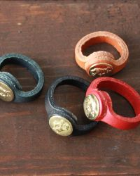 leather rings...larger for bracelet