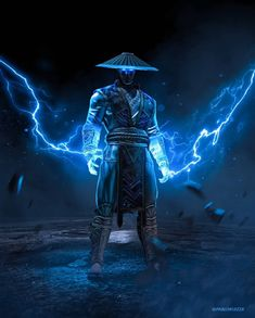Raiden the god of thunder. And you, who are your favorite characters in Mortal Kombat? Sub Zero Mortal Kombat, Scorpion Mortal Kombat, Raiden De Mortal Kombat, Arte Kombat Mortal, Mortal Kombat Tattoo, Mortal Kombat Comics, Tekken Wallpaper, Marvel Wallpaper, Gaming Wallpapers
