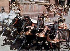 """Chariot race scene from """"Ben-Hur"""" (1959)"""