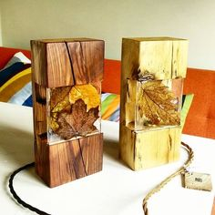 The last of my little leaf lamps until next autumn reclaimedwood antiquewood lamp autumnleaves leaf resin edisonlamp resin… Diy Resin Crafts, Wood Crafts, Diy And Crafts, Epoxy Resin Wood, Resin Furniture, Creation Deco, Resin Table, Wood Lamps, Wood Creations