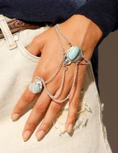 DIY ACCESSORY INSPO | Turquoise Chain Ring
