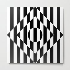 Buy Art Deco Op Art Striped Rhombus Metal Print by bitart. Optical Illusion Quilts, Illusion Drawings, Illusion Art, Optical Illusions, 3d Art Drawing, Geometric Drawing, Pencil Art Drawings, Geometric Art, Flower Drawings