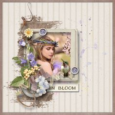 """In Bloom"" by Alexis Design Studio http://www.thedigichick.com/shop/In-Bloom-Kit.html photo Katie Andelman Photographer use with permission"