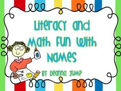 This is a resource full of fun, engaging name activities to do during the school year.  Over 36 pages of activities.  Full color pictures of exampl...#Repin By:Pinterest++ for iPad#