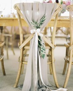 Wedding Chair Decorations, Wedding Chairs, Wedding Themes, Wedding Ideas, Wedding Blog, Wedding Inspiration, Grey Wedding Theme, Wedding Chair Sashes, Wedding Chair Covers