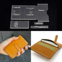 Leather Gifts, Leather Bags Handmade, Leather Craft, Business Card Displays, Business Card Holders, Leather Business Card Holder, Diy Wallet, Long Wallet, Leather Wallet Pattern