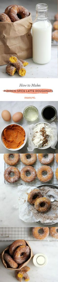 Pumpkin Spice Latte Doughnuts: The best doughnut recipe you will ever make.