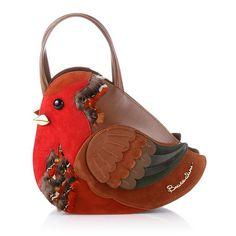 Pettirosso bird bag from Braccialini Unique Handbags, Unique Purses, Beautiful Handbags, Unique Bags, Beautiful Bags, Purses And Handbags, Leather Handbags, Novelty Handbags, Novelty Bags
