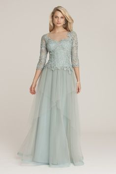 Light Blue Mother of the Bride Dress by Teri Jon | Featured in Mother of the Bride Dresses