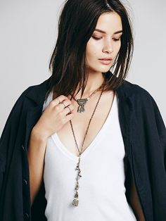 Free People Hi Lo Collar Pendant at Free People Clothing Boutique