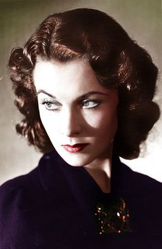 Vivien Leigh - darkly expressive and reflective - perfectly arched brows, lovely matte skin and color.