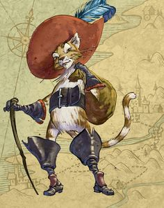 The right hat and boots make the cat!