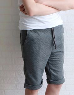 Rebel Sweat Pants from Wardrobe By Me is a sewing pattern. Super comfy, flattering, and relaxed pair of classic joggers for the guys! Mens Sweatpants, Joggers, Mens Sewing Patterns, Sewing Magazines, Cotton Shorts, French Terry, Rebel, Sweat Pants, Fashion