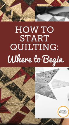 Learning how to start a quilt, especially when it comes to quilting, can be both difficult and intimidating. See how to take the fear out of quilting with expert tips from Heather Thomas. Sewing Machine Quilting, Beginner Quilting, Quilting For Beginners, Quilting Tutorials, Quilting Ideas, Quilt Block Patterns, Pattern Blocks, Quilt Blocks, Sewing Patterns