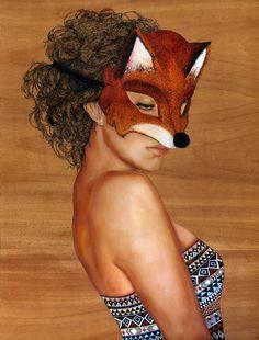 Fox Masque by Charmaine Olivia