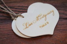 Rustic Place Cards, Laser Engraved, Wood Favor Tags, Seat Assignment, Country Chic, Outdoorsy Wedding