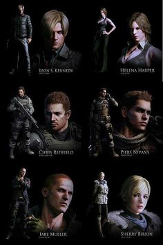 Capcom has revealed a new poster for Resident Evil 6 showing three pairs of characters starring in the upcoming survival-horror game.