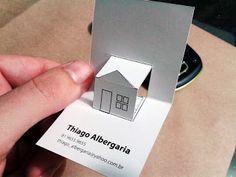 Thiago Albergaria Designer: protótipo do meu cartão de visita - modelagem de arquitetura 3D Signage Design, Brochure Design, Branding Design, Logo Design, Architecture Business Cards, Visiting Card Design, Name Card Design, Presentation Cards, Bussiness Card