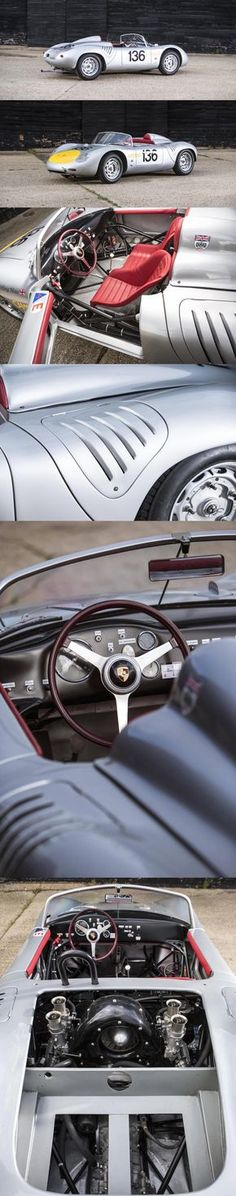 The Porsche 718 was a competition focussed evolution of the Porsche 550 Spyder, which had been a very successful car for the still relatively young German Porsche 550, Porsche Cars, Porsche Boxster, Vintage Porsche, Vintage Cars, Sport Cars, Race Cars, Hot Rods, Ferdinand Porsche
