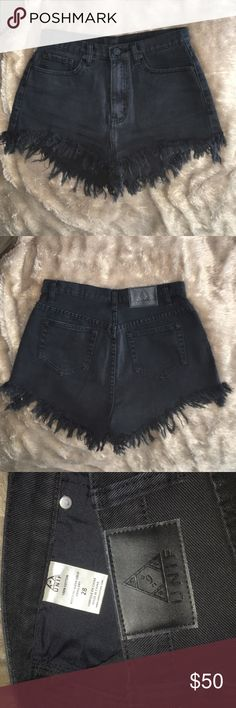 UNIF BLACK JEAN CUT OFF SHORTS FROM NASTYGAL Sz28 PERFECT CONDITION UNIF BLACK JEAN SHORT CUT OFFS FROM NASTY GAL SIZE 28. Tried on again & decided I might want to keep. Not sure if I want to sell them, but I probably would for the right price/offer. Just let me know if you're interested :) UNIF Shorts Jean Shorts