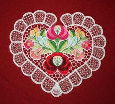 Valentine Hearts Embroidery Designs by Embroidered Necessity Embroidery Services, Custom Embroidery, Motif Design, Lace Design, Machine Embroidery Patterns, Embroidery Thread, Hungarian Embroidery, Lace Making, Hungary