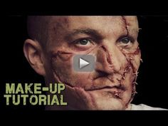 Frankenstein / Leatherface / Zombie Prosthetic FX Makeup Tutorial - How to apply prosthetics for zombie / Leatherface / Frankenstein make up effects - if you need to create stitched face FX for your film, photo shoot or
