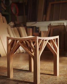"weareheartwood: "" Intricate stool by Mokkuku Heartwood Tumblr | Instagram """