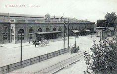 Image issue du site Web http://1.bp.blogspot.com/-MemACiNpZEY/UHN_rTCX4HI/AAAAAAAAVY0/TZ8a7TGTCtc/s1600/Narbonne+Gare+1910.jpg