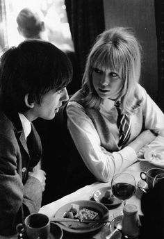 George Harrison and Pattie Boyd-Harrison (A Hard Day's Night)