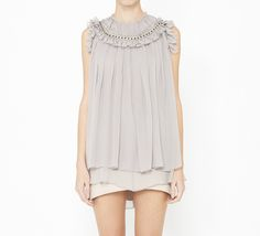 Lavander And Grey Top by Thomas Wylde. With jeans...