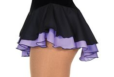 Double Layer Figure Skating Skirt Black/Purple Tennis Outfits, Tennis Skirts, Tennis Clothes, Figure Skating Dresses, Bicycle Girl, Skirt Outfits, Clothing Patterns, Skate, Gym Shorts Womens