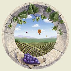 Vineyard Daydream   Trompe L'oeil Art   by Dina Farris Appel