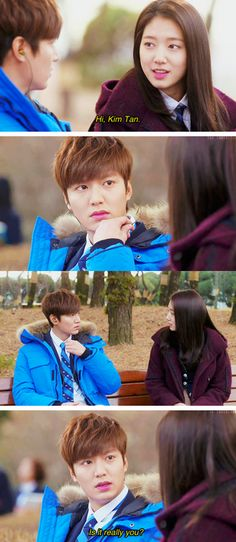 """Lee Min Ho and Park Shin Hye ♡ #Kdrama - """"HEIRS"""" / """"THE INHERITORS"""" // He seems can't believe it"""