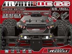 ﹩579.99. Team Redcat TR-MT8E BE6S Monster Truck 1/8 Scale Brushless Electric    Type - Monster Truck, Scale - 1:8, Fuel Type - Electric, Required Assembly - Ready to Go/RTR/RTF (All included), 4WD/2WD - 4WD, Motor Type - Brushless