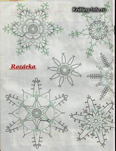 Show Your Spirit Gnomes sewing pattern by Indygo Junction Crochet Snowflake Pattern, Crochet Stars, Crochet Snowflakes, Crochet Mandala, Thread Crochet, Crochet Motif, Crochet Doilies, Crochet Flowers, Crochet Christmas Ornaments