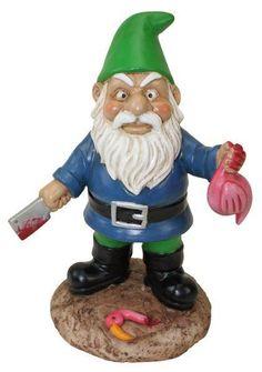 Big Mouth The BUTCHER GARDEN GNOME - Novelty Gnome Figure