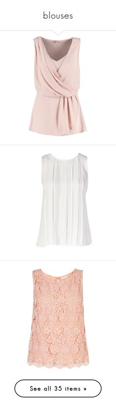 """""""blouses"""" by dancer11forever ❤ liked on Polyvore featuring tops, blouses, tanks, shirts, blusas, nude, pink shirt, deep v neck blouse, print shirts and shirt blouse"""