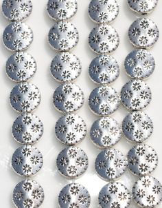 Silver Plated Flat Round (Coin Shape) Beads.  9 mm Flat Round 24 Beads per package  SHIPPING: I do combine shipping at a flat rate in the United
