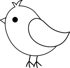 Printable free simple bird templates