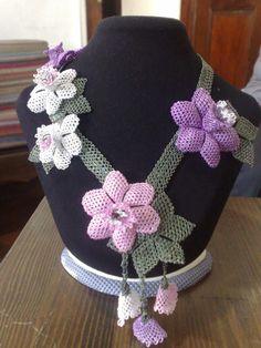 Oya kolye Turkish needle lace