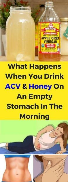 What happens when you drink ACV and honey on an empty stomach in the morning